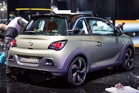 opel adam rocks opel adam rocks rolls its way to a geneva debut live photos