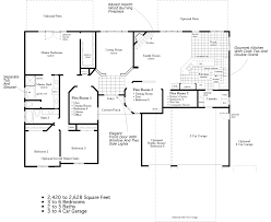 ranch floor plans with 3 car garage 4 bedroom ranch floor plans to 2 628 square feet 3 to 6