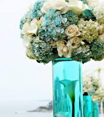 Blue Flower Vases Wedding Flowers Flowers For Tiffany Blue Wedding