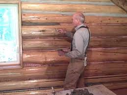 martin cabin 6 3 09 chinking log walls log cabin pinterest
