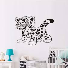 compare prices on nursery furniture package online shopping buy cartoon cut tiger nursery wall stickers for kids rooms art wall decal african animal mural living