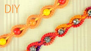diy sunny macrame bracelet for a sunny day easy tutorial by