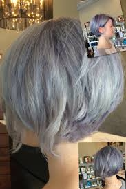 fine graycoming in of short bob hairstyles for 70 yr old women hair color brunette eyes angled bob haircuts lilac hair