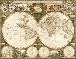 world 1660 wall map mural by frederick de wit wall mural map of the world 1660