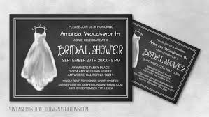 Wedding Shower Invites Chalkboard Bridal Shower Invitations Vintage Rustic Wedding