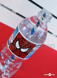 superhero collection spiderman water bottle labels diy