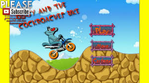oggy cockroaches oggy cartoon games biking