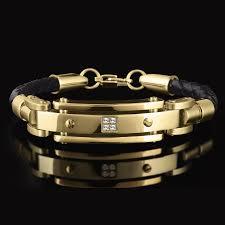 bracelet gold leather man images Bracelet pak traders jpg
