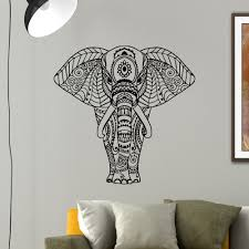 elephant wall decal vinyl sticker yoga indian by wisdomdecals
