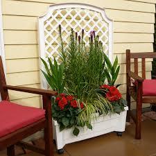 exaco calypso planter with trellis walmart com