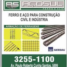Popular AÇOSUL FERRO E AÇO - Ferragem Armada para Construção Civil  &HC72