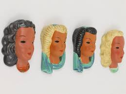 wall masks set of four goldscheider vienna wall masks by adolf prischl