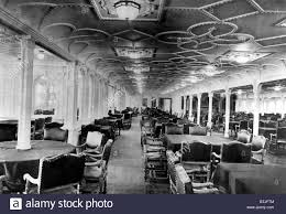 The Dining Rooms by The Dining Room Of The Rms Titanic Which Sank After Hitting An