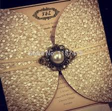gold wedding invitations hi7006 luxurious beige wedding cards light gold invitation cards