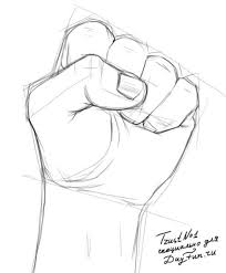 how to draw a fist step by step arcmel com