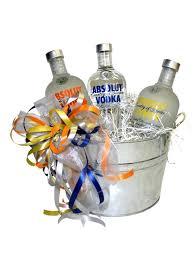 vodka gift baskets build a basket absolut vodka deluxe gift basket