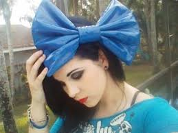 large hair bows royal blue pleather fashionista hair bow w snap