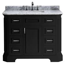 Antique Black Bathroom Vanity by 47 49 In Vanities With Tops Bathroom Vanities The Home Depot