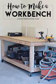 garage workbench plans for building workbench in garage diy
