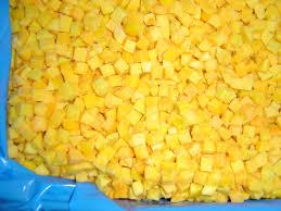 clingstone melocoton cubos clingstone la senda frozen foods verdura iqf