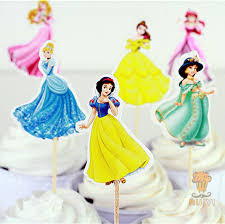 cinderella cake toppers 24pcs princess cinderella cake toppers picks cases for kids
