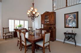 Traditional Dining Room With Chandelier  Carpet In Fountain - Traditional dining room chandeliers