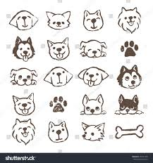 Types Of Dogs Different Types Dogs Icon Set Brown Stock Vector 456741208