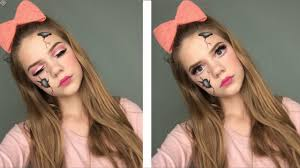 broken doll halloween makeup tutorial creepy cracked broken