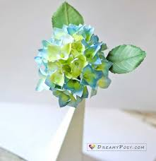 flower hydrangea how to make hydrangea paper flower from printer paper so simple