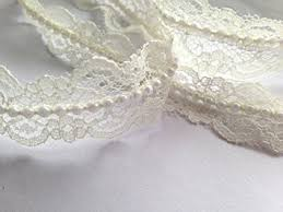 pearl ribbon vintage style ivory lace pearl ribbon trim bridal wedding sold by