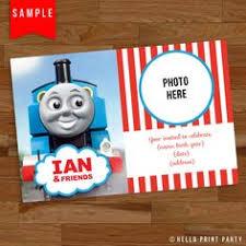 personalized thomas the train ticket birthday invitation thomas