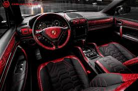 porsche suv interior 2017 porsche cayenne goes reptilian with red crocodile leather interior