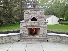 outdoor stone fireplace with pizza oven new house decorating