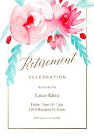 free retirement u0026 farewell party invitation templates greetings