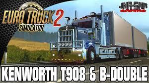 kenworth merchandise usa euro truck simulator 2 kenworth t908 with b double trailer youtube