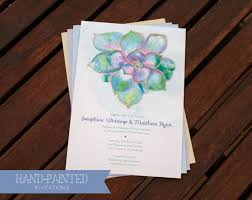 Succulent Wedding Invitations Hand Painted Succulent Invitation Hand Painted Weddings