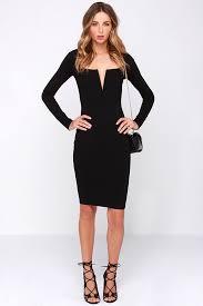 chic black dress midi dress sleeve dress 54 00