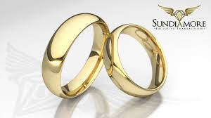 wedding rings classic images Touch of sensitivity hand made yellow gold classic wedding rings jpg