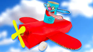 cardboard airplane with looney lupin diy crafts ideas for kids