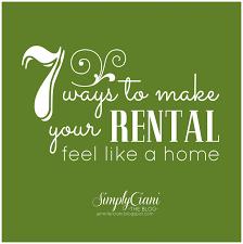 simply ciani 7 ways to make your rental feel like a
