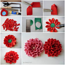 satin ribbon diy satin ribbon dahlia petals