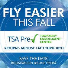 save the date tsa precheck temporary pensacola