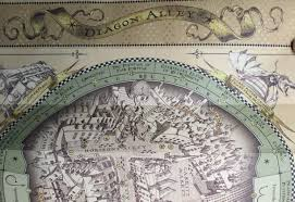 Harry Potter World Map by Universal Studios Diagon Alley Wand Map Section 1 Tourist Meets