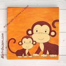 deco chambre bebe theme jungle tableau singes pour chambre bébé deco pour chambre d enfant thème