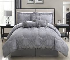 grey white embossed motif comforter sets full with vintage white