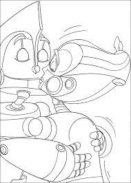 kids 7 robots printable coloring pages