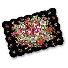 Small Black Rugs Black Floral Rugs Roselawnlutheran