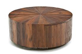rustic modern coffee table round wood coffee table with drawer modern rustic design