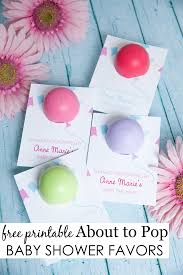 about to pop baby shower favor pop baby showers eos lip balm