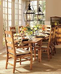 pottery barn kitchen decor dark wood dining table design of
